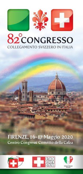 82° Congresso del Collegamento svizzero in Italia – Firenze 16-17 maggio 2020